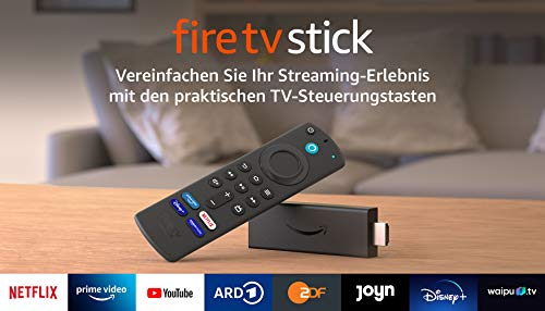 Fire TV Stick mit Alexa-Sprachfernbedienung (mit TV-Steuerungstasten)...