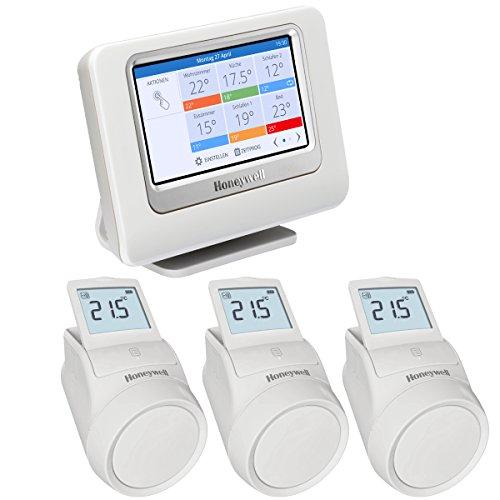 Honeywell Home evohome Starter Paket zur Heizungssteuerung, THR993RT