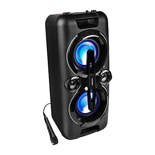 MEDION P67013 Party-Soundsystem (Partylautsprecher Karaoke, Bluetooth,...