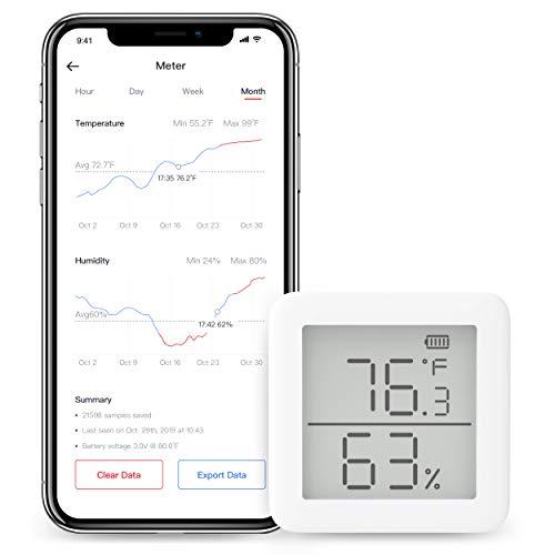 SwitchBot - Thermometer und Hygrometer, Draadloze Temperatuur...