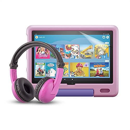 Das neue Fire HD 10 Kids-Tablet (kindgerechte Hülle in Lavendel) +...