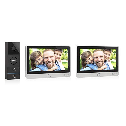 Byron Video-Gegensprechanlage mit zwei 7 Zoll HD Touchscreen 720p...