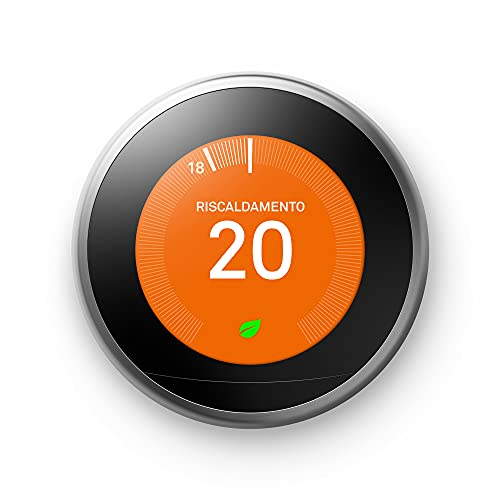 GOOGLE Nest Learning Thermostat aus Edelstahl, Wird vom Telefon...