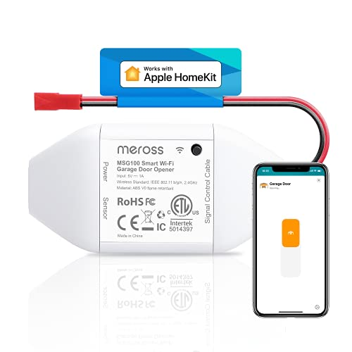 Meross Smart WLAN Garagentoröffner funktioniert mit Apple HomeKit,...
