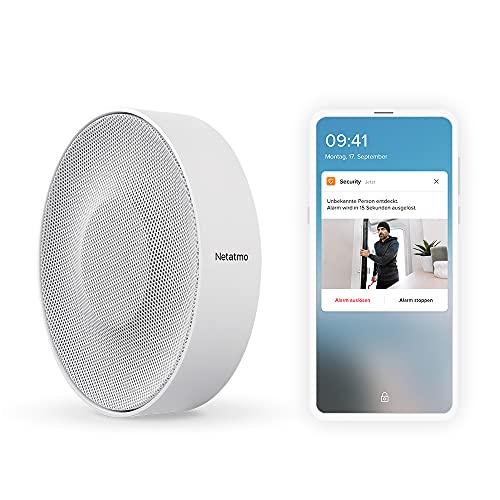 Netatmo Smarte Innen-Alarmsirene, drahtlos, WLAN, 110 dB, automatische...
