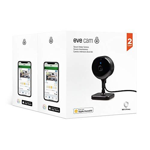 Eve Cam 2er Pack - Smarte Innenkamera, 100% Privatsphäre, HomeKit...