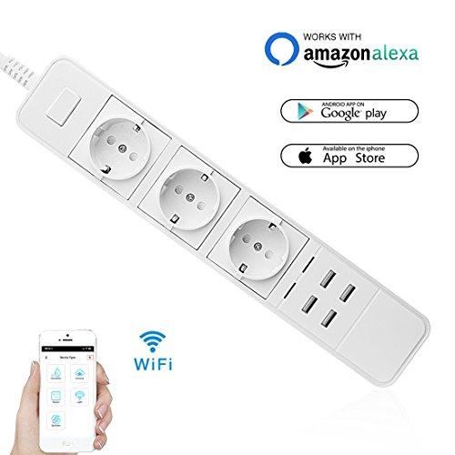 WIFI Smart Steckdose, Wrcibo Intelligente Steckdose Switch Socket...