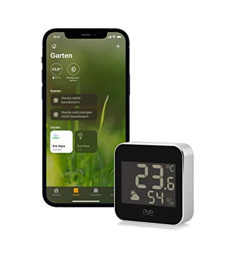 Eve Weather - Smarte Wetterstation mit Apple HomeKit-Technologie zum...