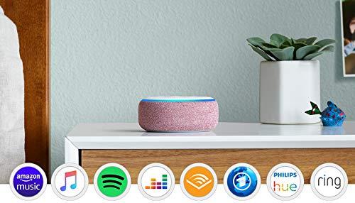 Echo Dot (3. Gen.) Intelligenter Lautsprecher mit Alexa, Lila Stoff