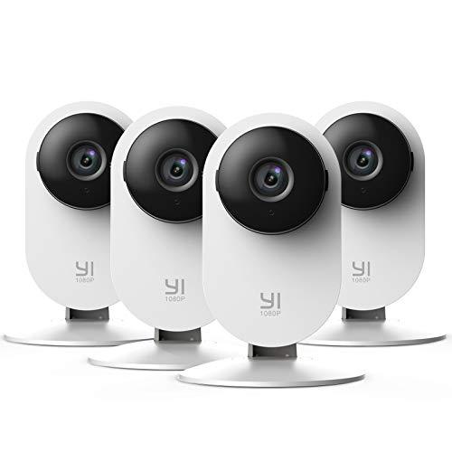 YI Home Camera 1080p 4 Stücke,Ip Kamera WiFi Überwachungskamera mit...