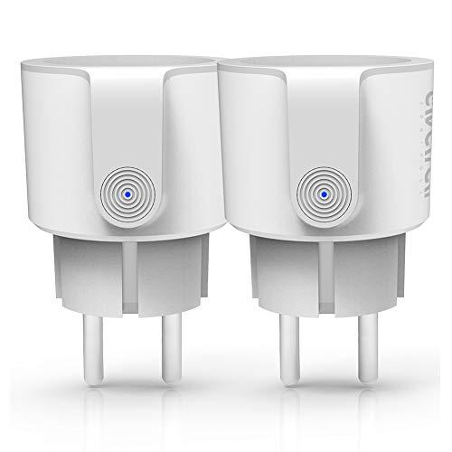 WLAN Alexa Steckdose, Smart Home Steckdose 10A Intelligente Plug...