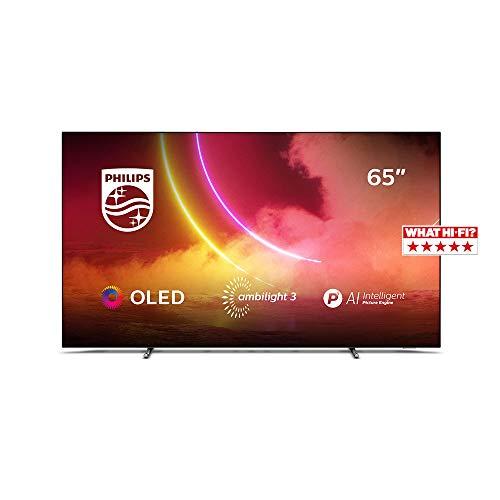 Philips Ambilight TV 65OLED805/12 65-Zoll OLED TV (4K UHD, P5 AI...