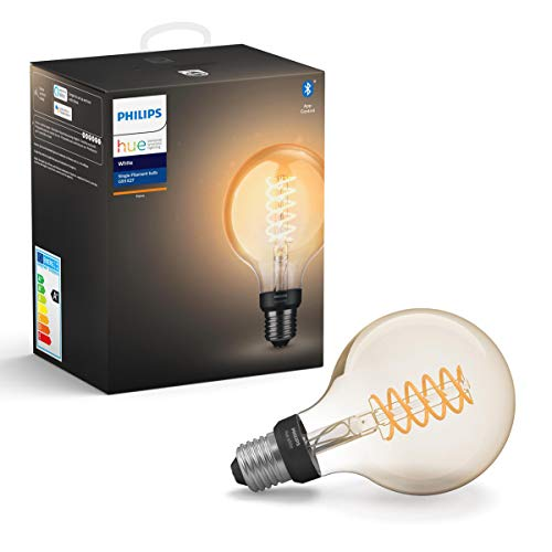 Philips Hue White Filament E27 LED Globe, dimmbar, Vintage Design,...