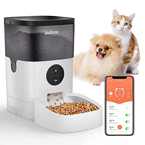 Balimo 4L WiFi Automatischer Futterspender für Katze und...