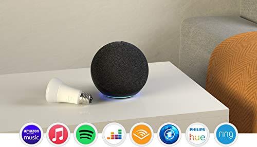 Echo (4. Generation), Anthrazit + Philips Hue White LED-Lampe
