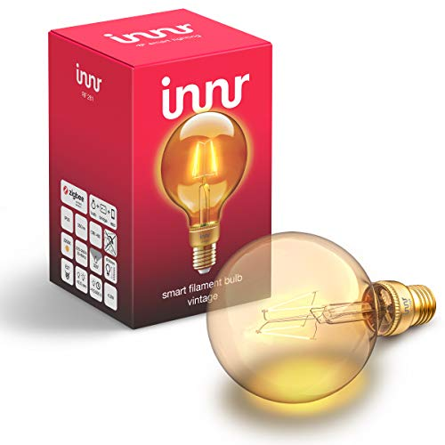 Innr E27 Smart Filament LED Globe Lampe, kompatibel mit Philips Hue*,...