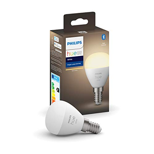 Philips Hue White E14 LED-Tropfen Luster, Einzelpack, dimmbar,...