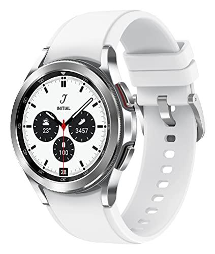 Samsung Galaxy Watch4 Classic, Runde LTE Smartwatch, Wear OS, drehbare...