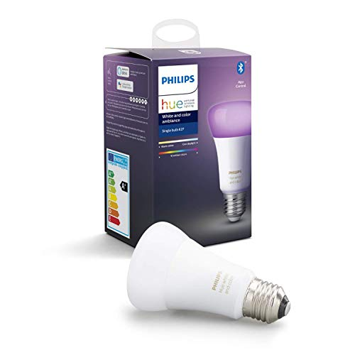 Philips Hue White & Color Ambiance E27 LED Lampe Einzelpack, dimmbar,...