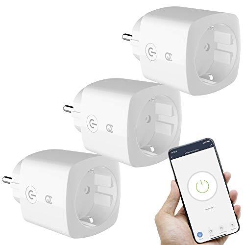 FlinQ 3er-Pack WLAN Steckdose   Smart Steckdose Wifi   16A Smart Plug...
