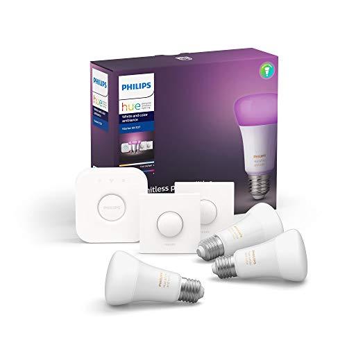 Philips Hue White & Color Ambiance E27 LED 3-er Starter Set, dimmbar,...