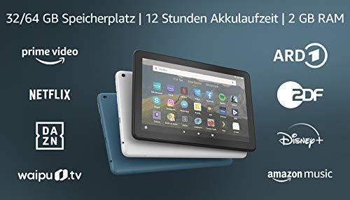 Fire HD 8-Tablet, 8-Zoll-HD-Display, 32 GB, Schwarz, Mit Werbung, für...