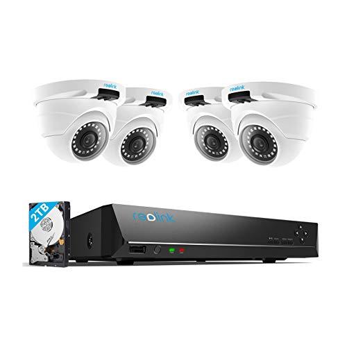 Reolink 4MP Überwachungskamera Aussen Set, 8CH Videoüberwachung mit...
