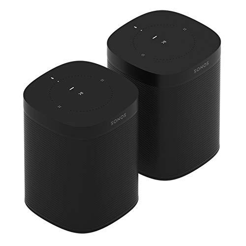 2-Raum Set: Sonos One - Smart Speaker (mit Alexa Sprachsteuerung,...