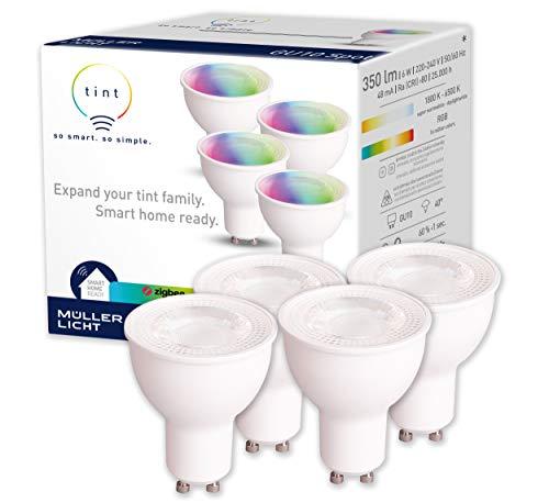 tint von Müller-Licht 4er-Set Smarte LED Lampen GU10 Reflektor,...
