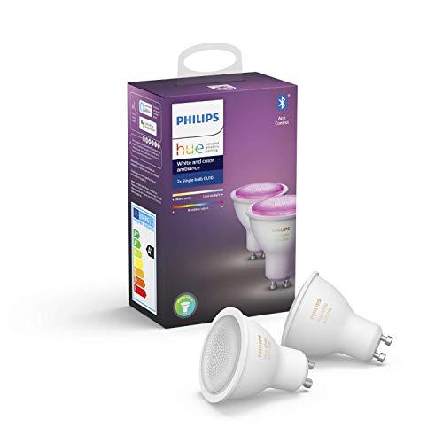 Philips Hue White & Col. Amb. GU10 LED Lampe Doppelpack, dimmbar, bis...