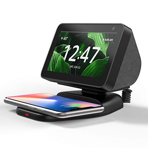 Echo Show 5 Ständer mit Wireless Charger, Verstellbare Magnetischer...