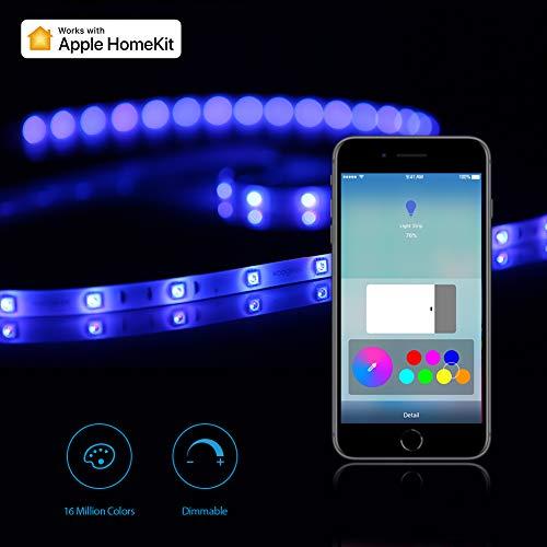 Koogeek Wireless Smart LED Streifen Lichtleiste Funktioniert mit Apple...