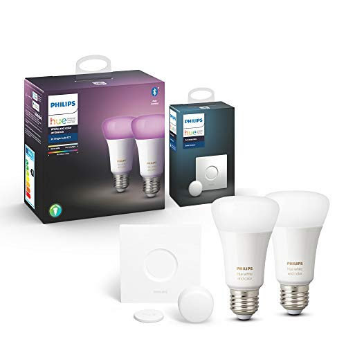 Philips Hue White & Color Ambiance E27 LED Lampe Doppelpack inkl. Hue...