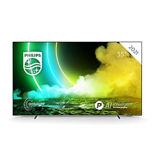Philips Ambilight TV 55OLED705/12 55-Zoll OLED TV (4K UHD, P5 Perfect...