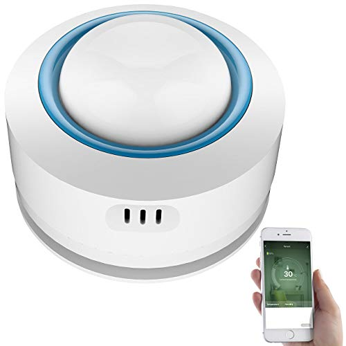 Luminea Home Control WLAN-Temperatur- & Luftfeuchtigkeits-Sensor,...