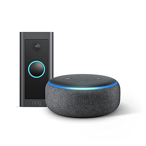 Ring Video Doorbell Wired von Amazon + Echo Dot (3. Gen.) –...*