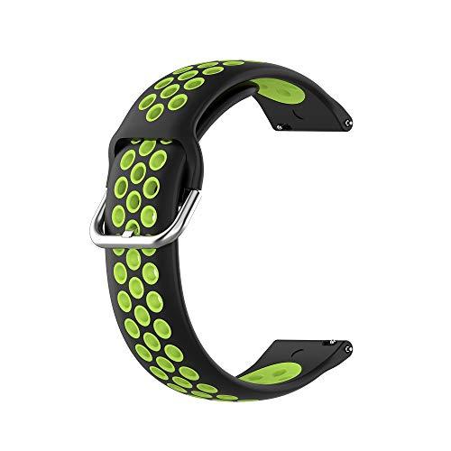 SIWEI Smart Watch Ersatzarmbänder, 22MM Silikon Sport Zweifarbiges...