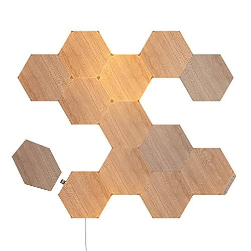 Nanoleaf Elements Wood Look Hexagons Starter Kit - 13 Panels