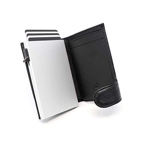 STEALTH Wallet Minimalistischer RFID Kartenhalter - Smart NFC...