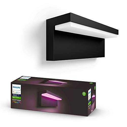 Philips Hue White and Color Ambiance LED Außenwandleuchte Nyro,...