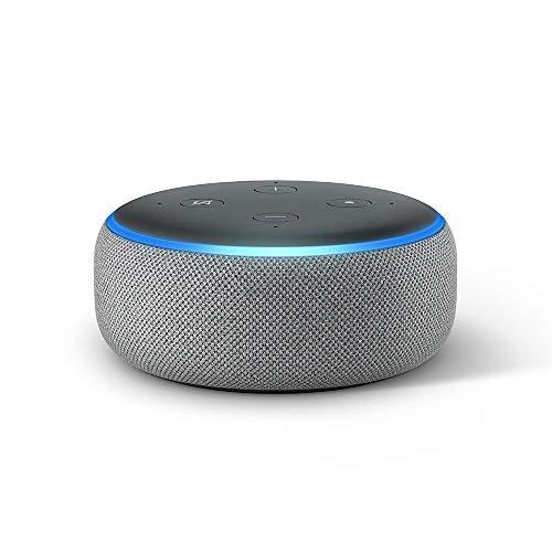Echo Dot (3. Gen.) Intelligenter Lautsprecher mit Alexa, Hellgrau...
