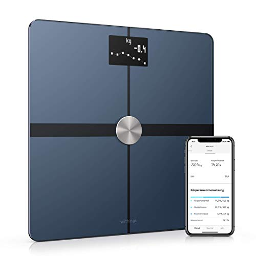 Withings Body+ - WLAN-Smart-Waage mit Körperzusammensetzungsfunktion,...