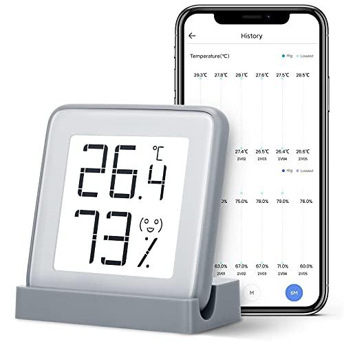 Azarton Thermometer Innen Digital Hygrometer mit E-ink Display und...