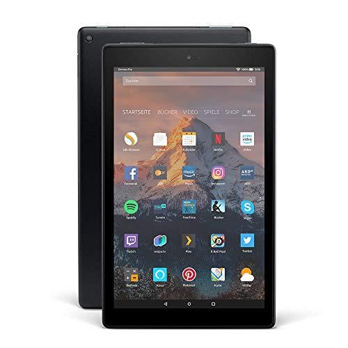Fire HD 10-Tablet, 1080p Full HD-Display, 32 GB, Schwarz, Mit Werbung...