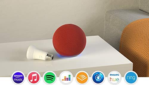 Der neue Echo (4. Generation), PRODUCT(RED) + Philips Hue White...