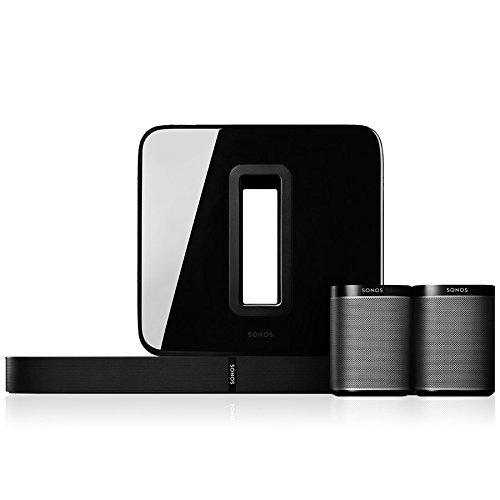 Sonos 5.1 Heimkino Set, System mit einer Playbase, einem SUB und einem...