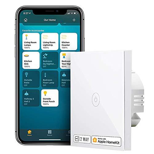 Smart Wechselschalter kompatibel mit HomeKit, meross Schalter WLAN...