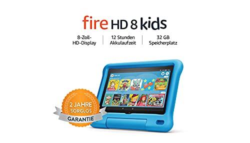 Fire HD 8 Kids-Tablet, 8-Zoll-HD-Display, 32 GB, blaue kindgerechte...