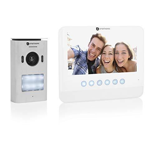Smartwares DIC-22212 Video Türsprechanlage (für 1 Teilnehmer mit...