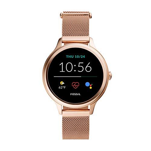 Fossil Damen Touchscreen Smartwatch 5E. Generation mit Lautsprecher,...